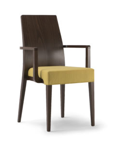 Loksa Wooden Back Arm Chair LOKS002 Image
