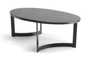 Volos Oval Coffee Table Black Frame VOLO006 Image