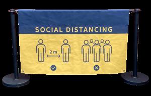 Social Distance Sign Image